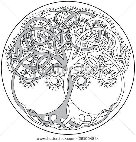 tree mandala coloring pages - photo#6