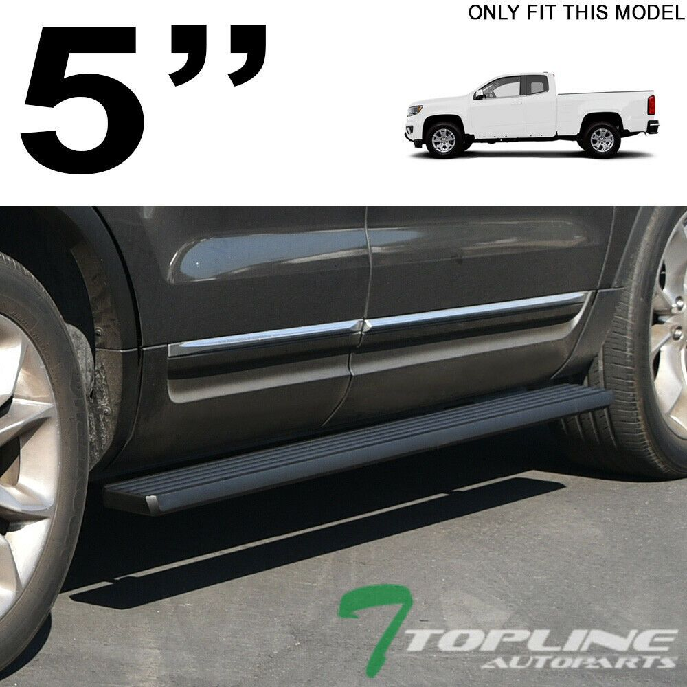 Ebay Sponsored 5 Matte Blk Aluminum Side Step Running Boards I4 2015 Colorado Canyon Extended Chevy Colorado