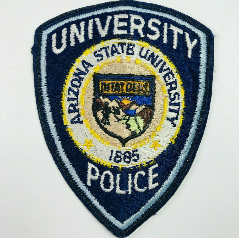 Arizona State University Police Patch In 2020