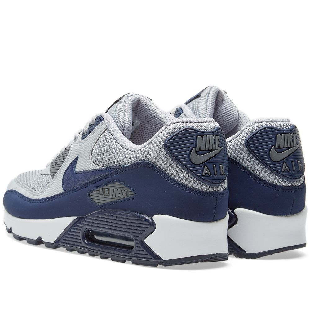 nike air max 90 essential black grey blue
