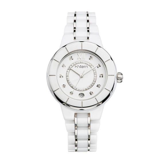 8af1693d747 Relógio feminino de cerâmica branca e trilho de diamantes http   m.hstern .com.br relogio feminino sports-luxury RS9AC204240