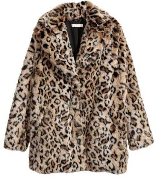 4ee497a4ec9c H&M Faux Fur Jacket | Leopard | Fur jacket, Faux fur jacket, Leopard ...