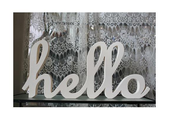 Shiningjean 筆記体シャビーアルファベット 「hello・ホワイト」「hello」SIZE・・・W410 H185 D20素材・・・シナシックなホワ...|ハンドメイド、手作り、手仕事品の通販・販売・購入ならCreema。