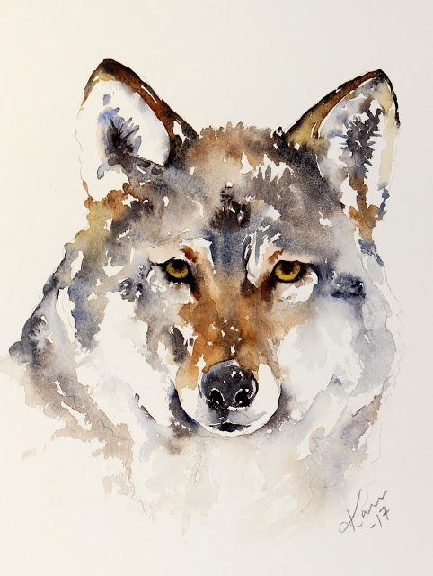 Sunday Watercolor : Wolf For more info: I share my creative projects here: https://www.instagram.com/peppermintpatty42/ and on my blog: http://peppermintpattys-papercraft.blogspot.se and on pinterest; https://www.pinterest.se/peppermint42/my-watercolors/