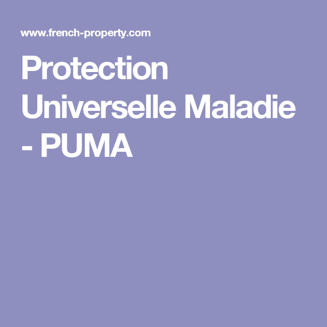 protection universelle maladie puma
