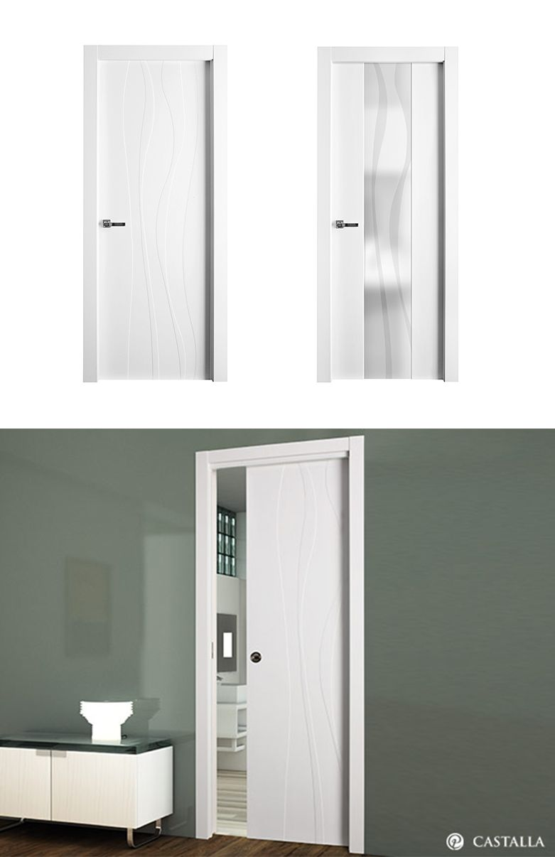 Puerta De Interior Blanca Modelo G Ngora De La Serie Lacada De  ~ Precio Puerta Lacada Blanca Instalada