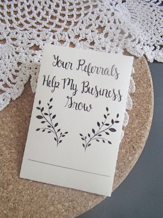 20 Custom Seed Packet Small Business Referral By Thepaperstash