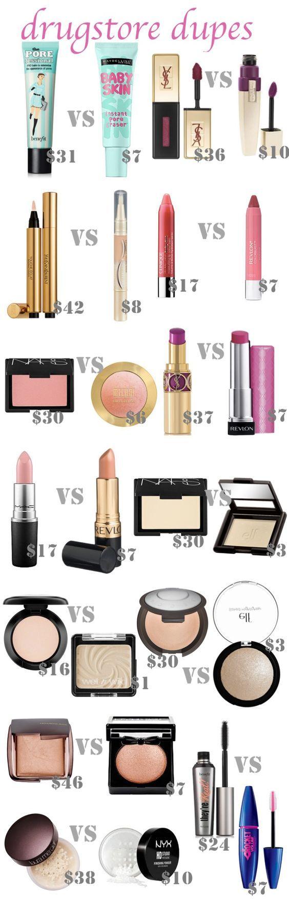 Best Drugstore Dupes Makeup dupes, Drugstore makeup