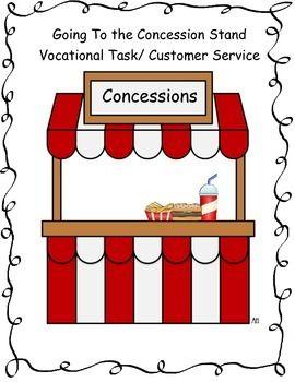 Pin By Lisa Varo Slp On Slp Life Skills Vocational Tasks Concession Stand Dramatic Play Printables