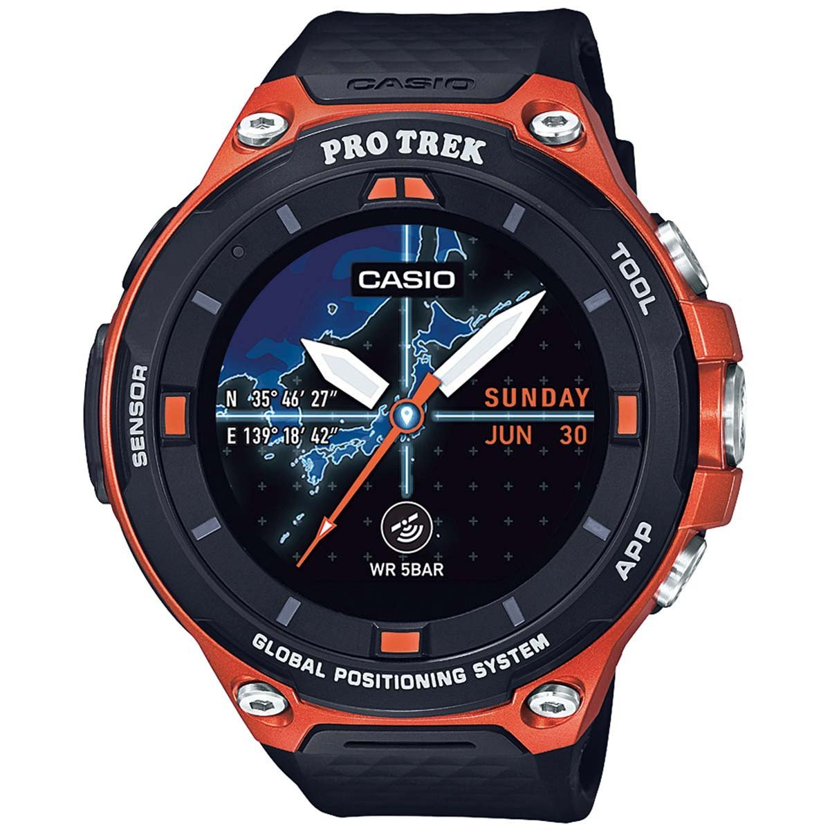Casio Men's 'Pro Trek' Quartz Resin Outdoor Smartwatch  CzWLo