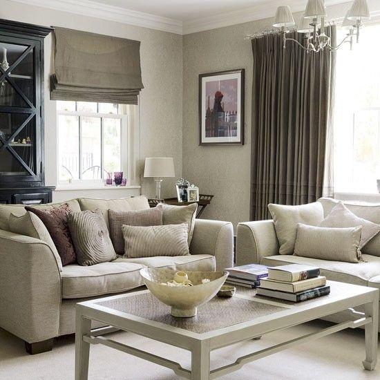 taupe-woonkamer | Interieur- ideeën | Pinterest | Living rooms ...