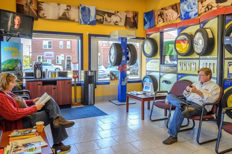 Waiting Room at Hogan & Sons Tire and Auto shop in