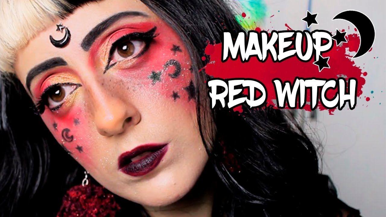 MAKEUP RED WITCH Makeup tutorial video, Witch makeup