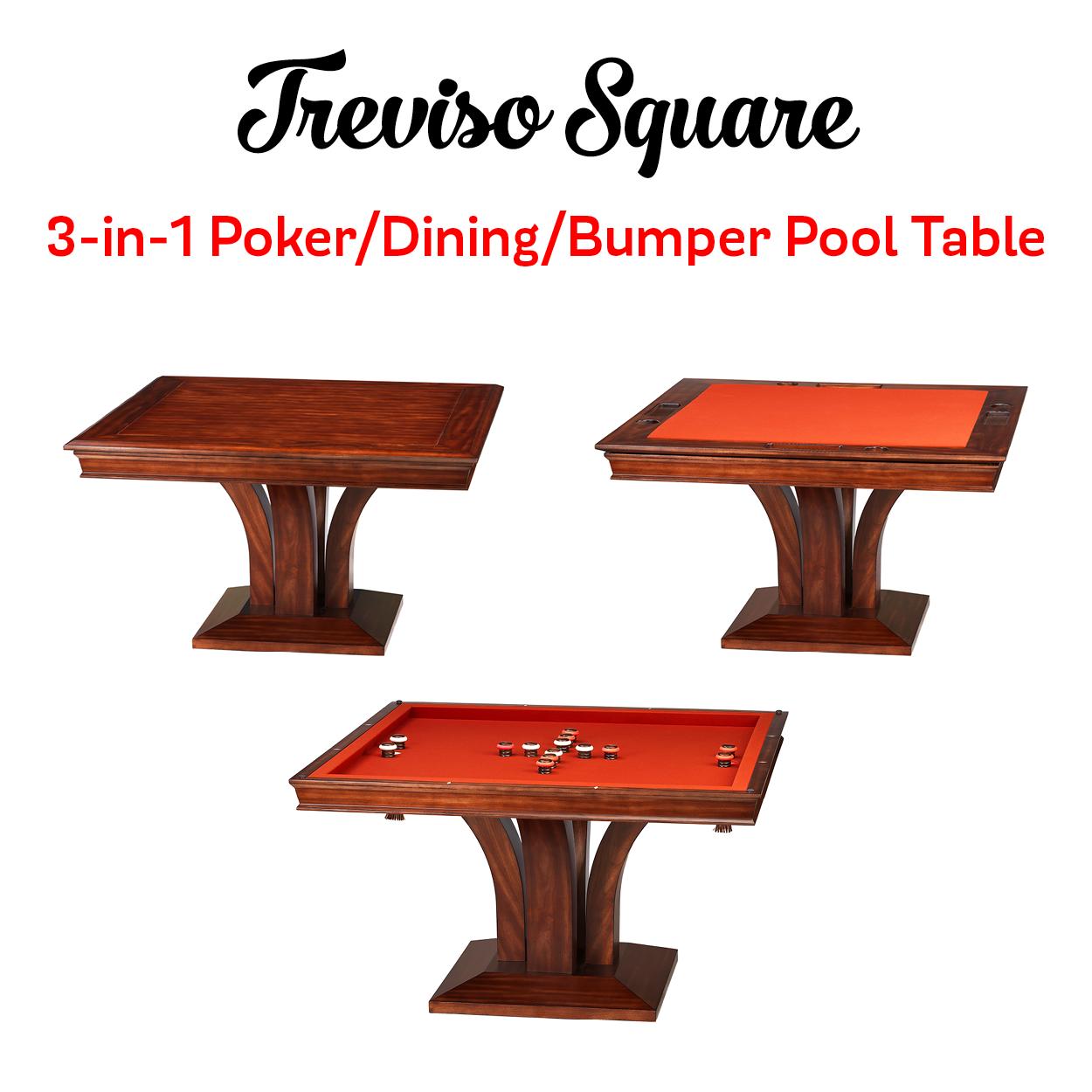 The Darafeev Treviso Square Combination Game Table Comes