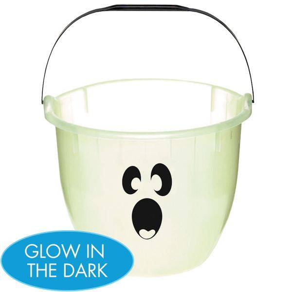 Glow in the Dark Ghostly Treat Bucket