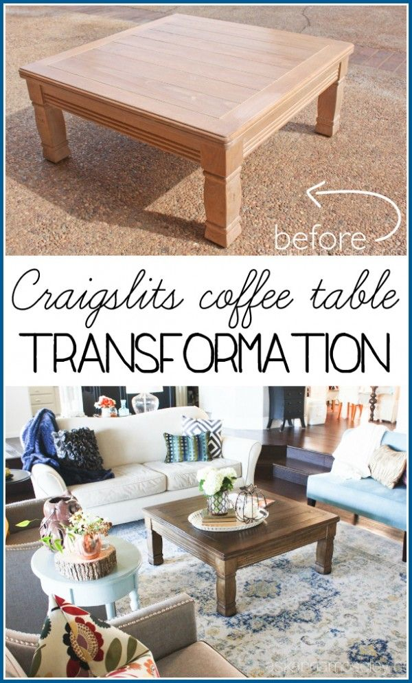 coffee table makeover - i took an outdated, 80's style, craigslist