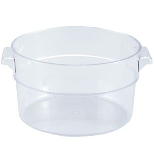 2 QT CLEAR ROUND FOOD STORAGE CONTAINER Catering madness Tools
