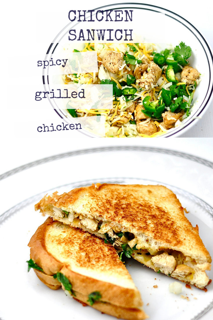 Grilled chicken sandwich is made up of cooked chicken seasoned with spices, cheddar cheese, and green chili. Giving it a unique flavor and taste. #grilledchickensandwich