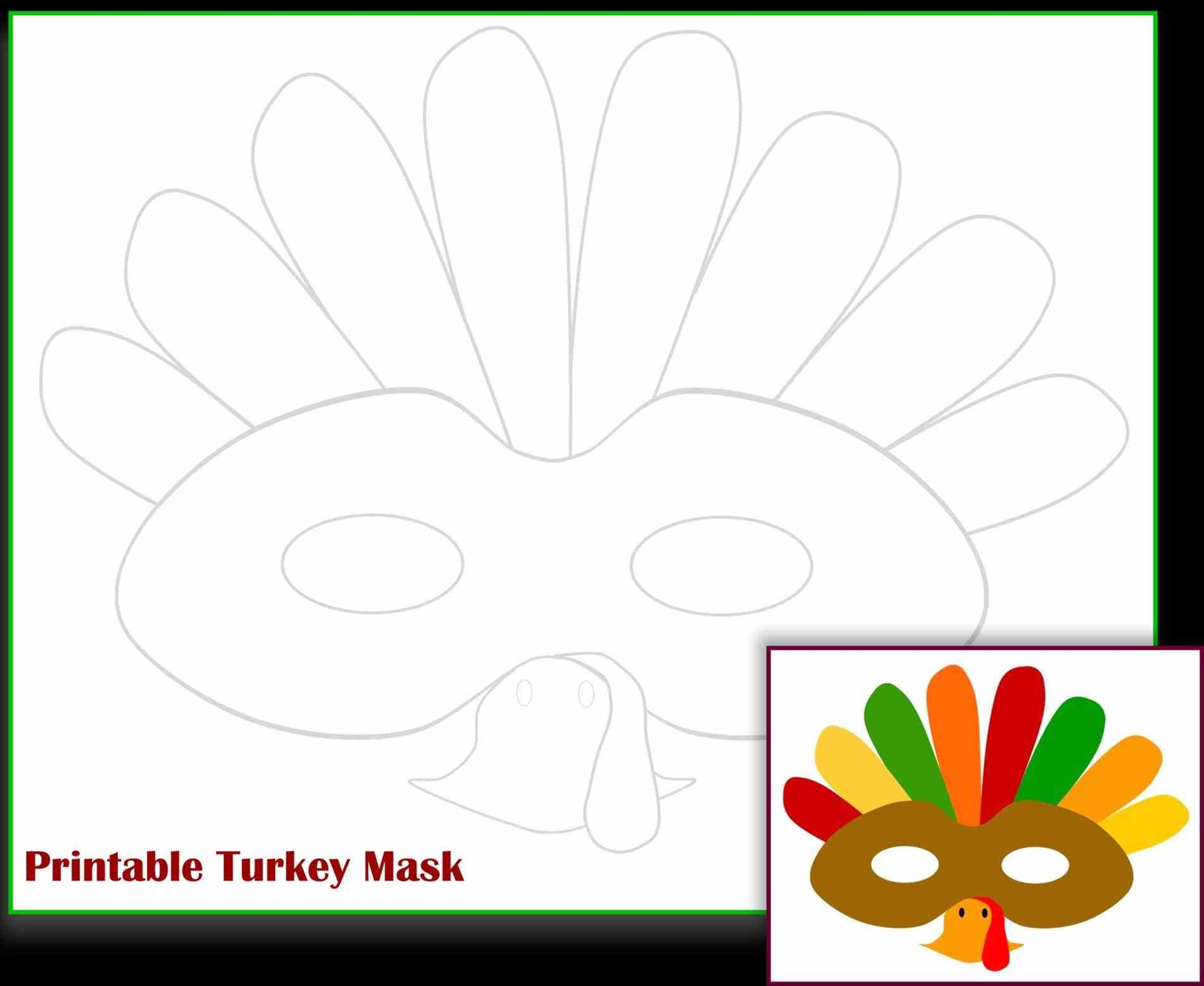 Image Result For Turkey Face Mask Template Printable Turkey Fun Thanksgiving Crafts Printable Turkey Template