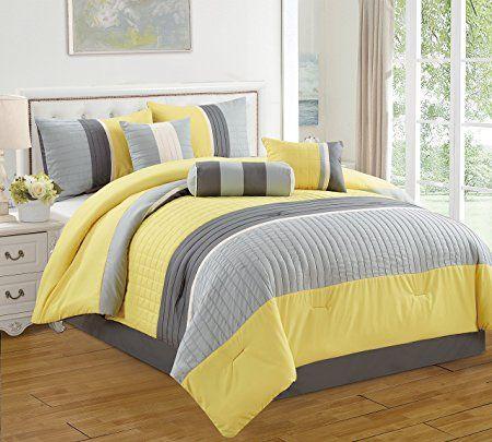 Jbff 7 Piece Bed In Bag Microfiber Luxury Comforter Set Queen