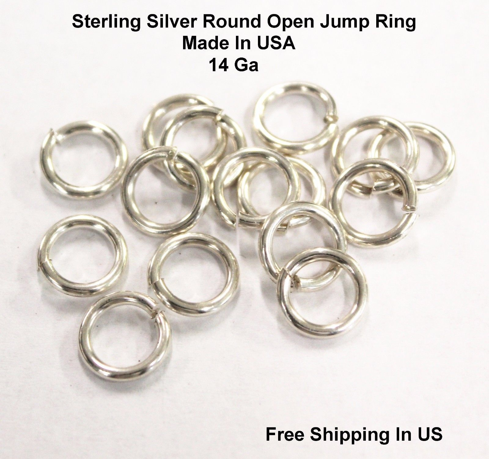 """5x-10mm Solid Sterling Silver Jump Rings /""""Heavy/""""-Open-Findings-Silversmith-.925"""