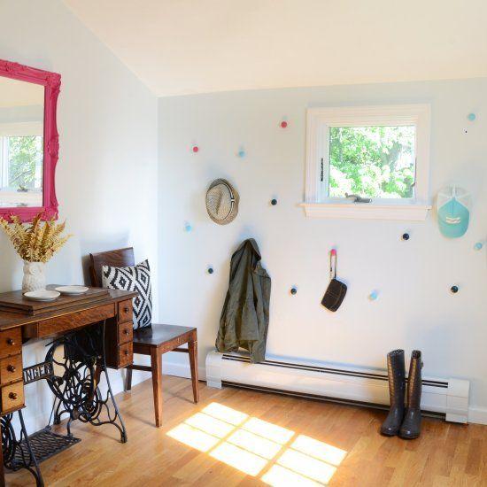 DIY Colored Knob Wall