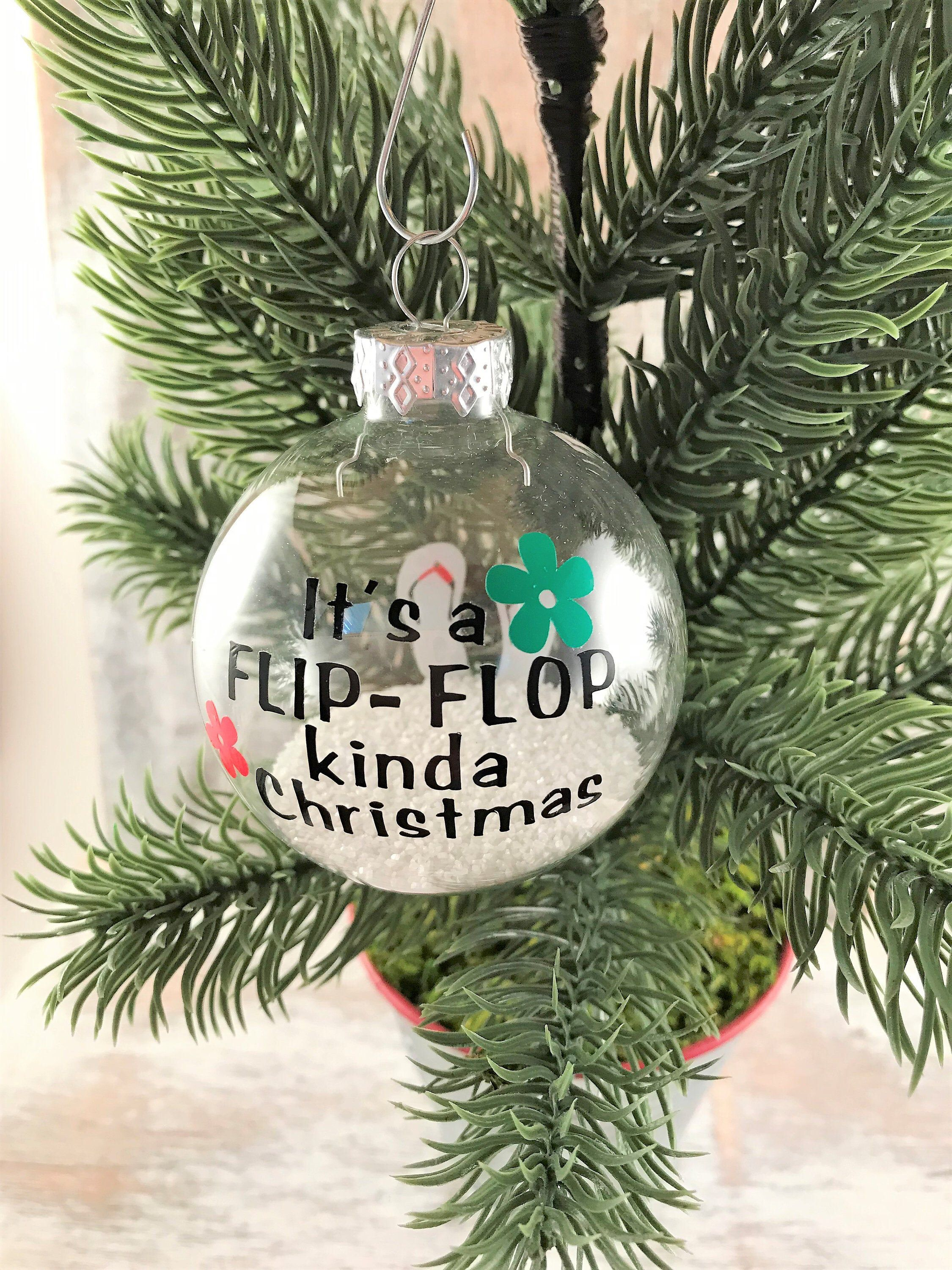 Christmas on the beach,Beach Gifts Personalized Beach Ornament