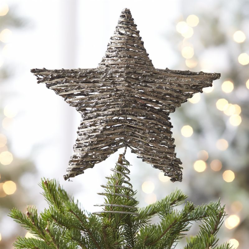 rattan star tree topper crate and barrel or really any pretty tree topper - Christmas Tree Topper Star