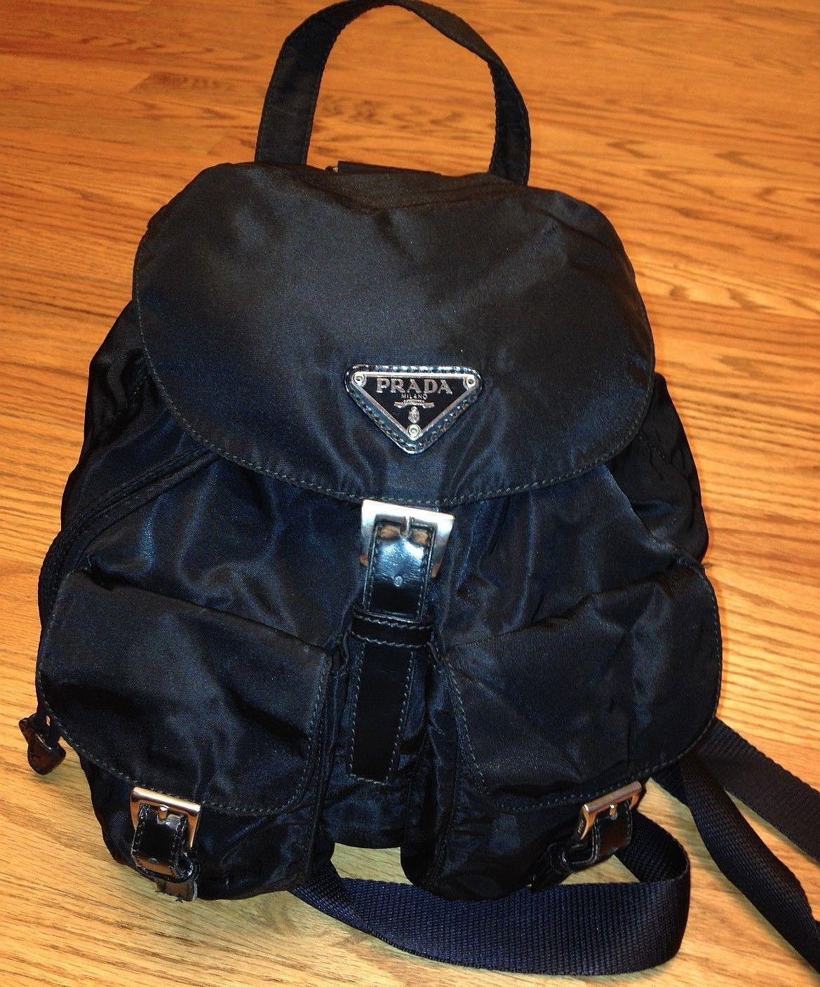 0468b5c4ee8df Prada Ladies Backpack (Pre-owned Women s Black Nylon Designer Back Pack)