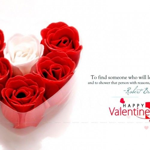 Happy Valentines Day Quotes And Also Valentine Card With White