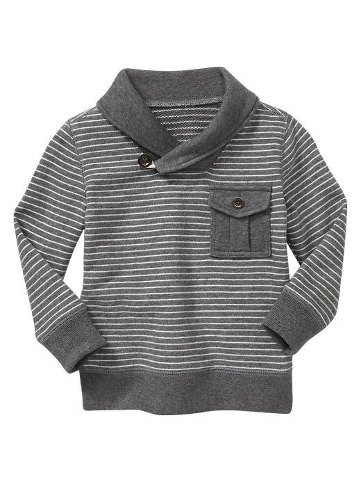 Gap | Striped shawl-collar sweater