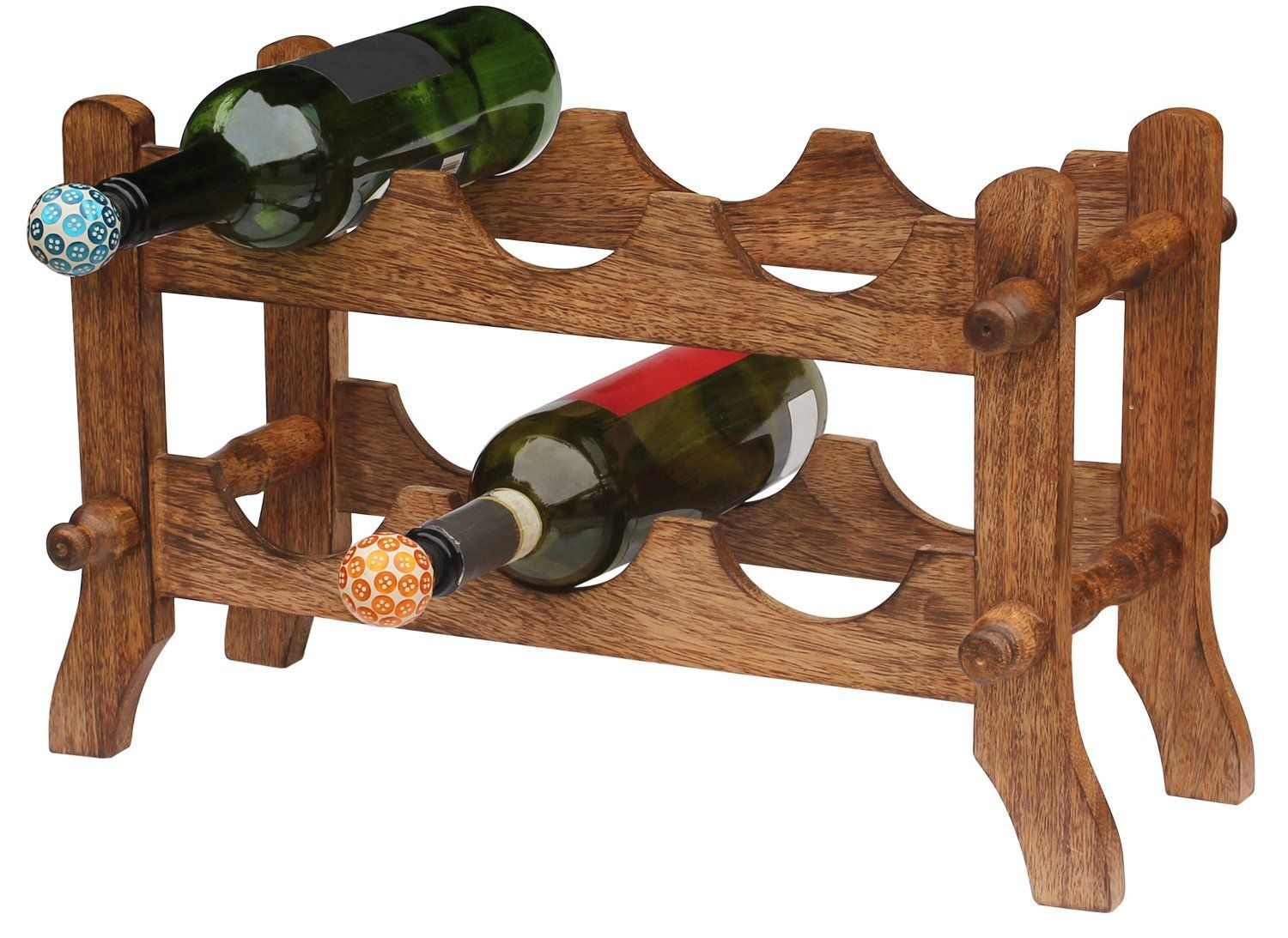 Amazon Com Wine Accessories 6 Bottle Wine Rack Free Standing