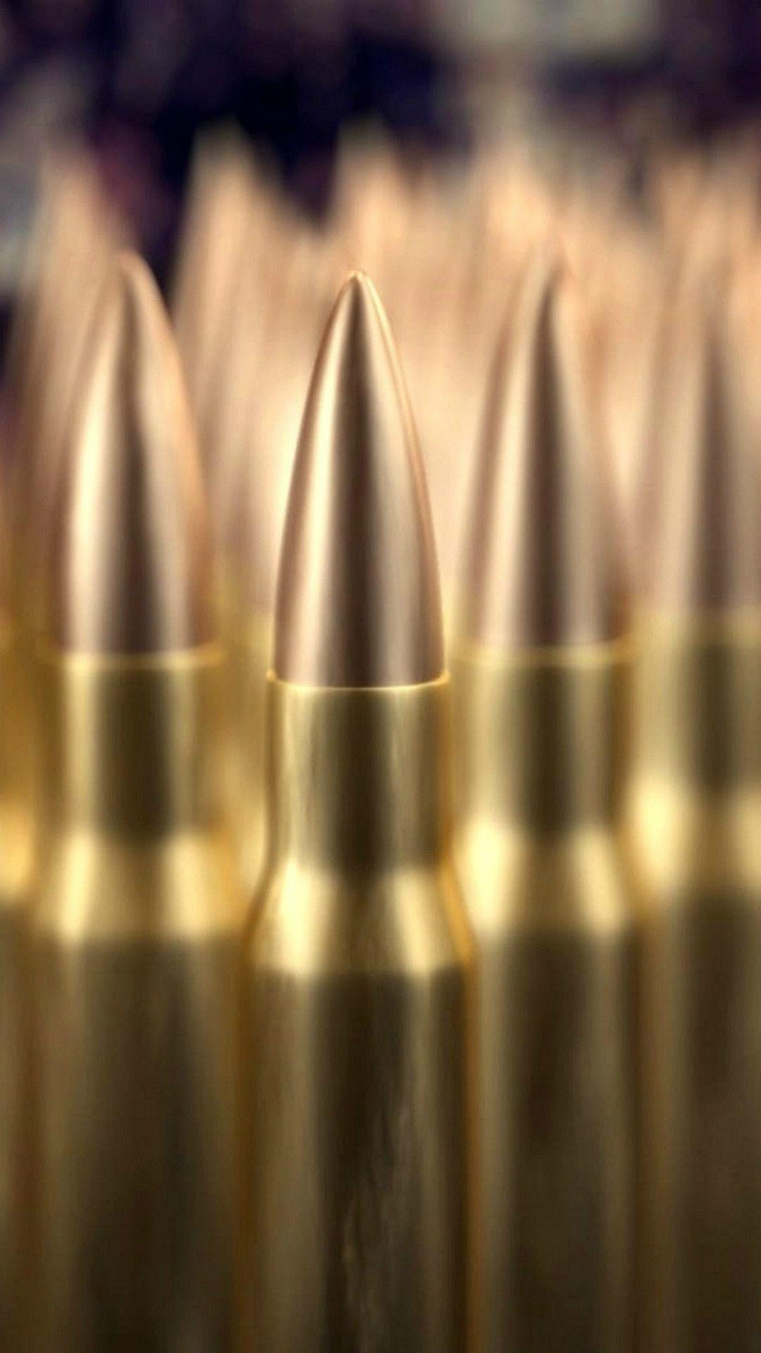 Military Bullet Pile Macro Bokeh iPhone 8 Wallpapers