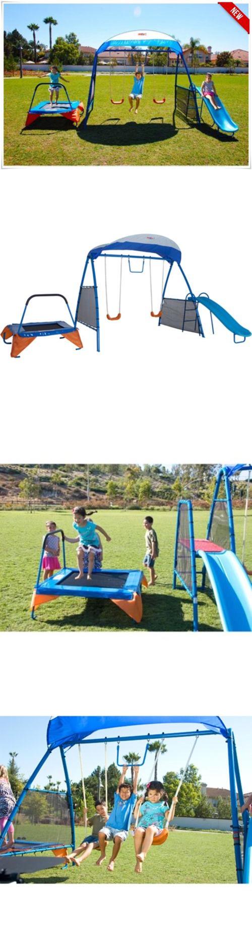 swings slides and gyms 16515 swing set playground metal swingset