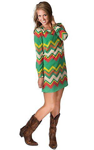 Long sleeve shift dress