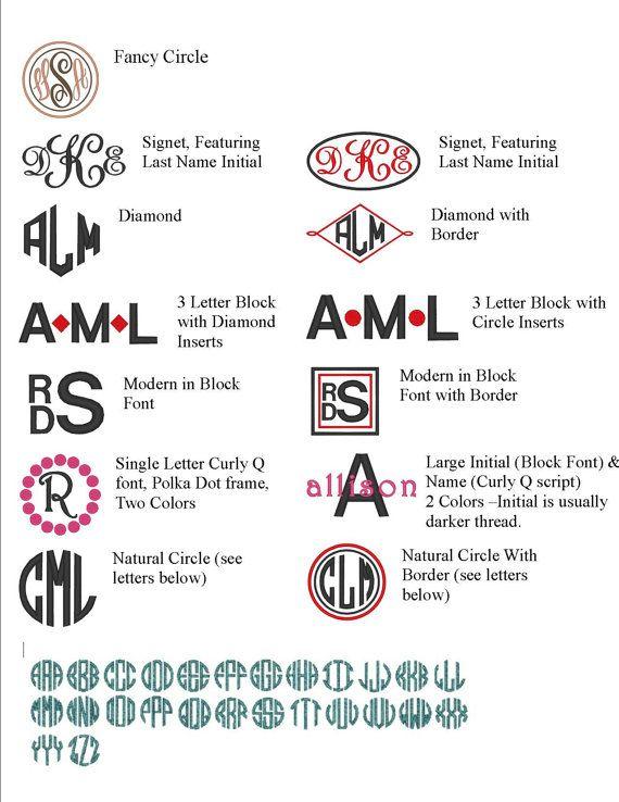Medio monograma 3 letras decorativa para por IrresistiblesLLC