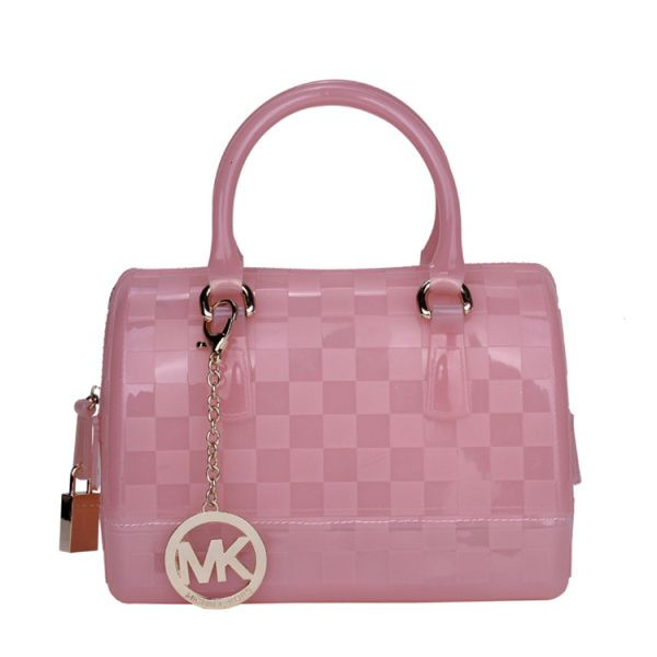 Michael Kors Outlet Checkerboard Logo Small Pink Satchels -Michael Kors factory outlet online sale now up to 72% off!