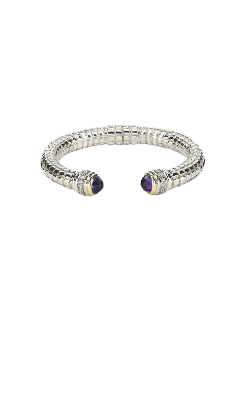 Vault Values - SS/14K WG Diamond & Amethyst Bracelet, 10004250