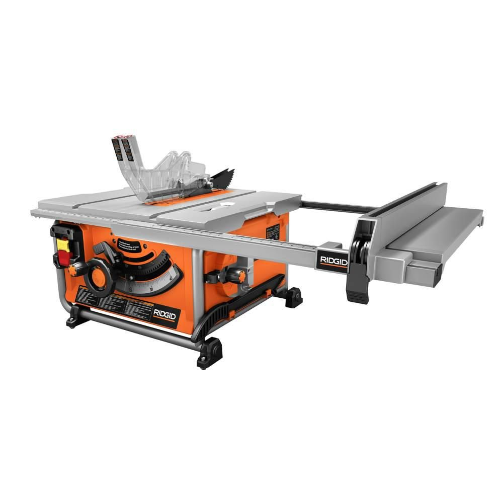Ridgid 10 In Compact Table Saw R45171ns The Home Depot Table