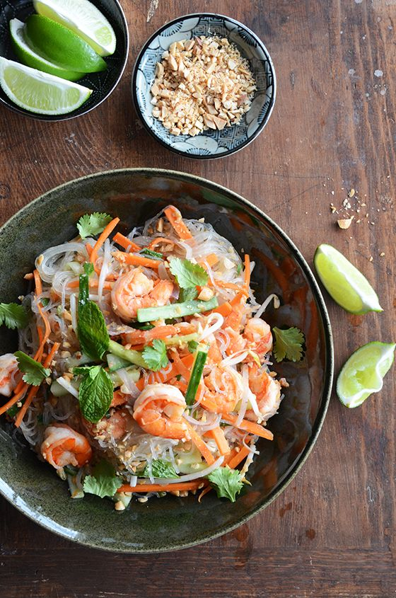 I'm obsessed with glass noodles! Vietnamese summer roll salad... mmm.