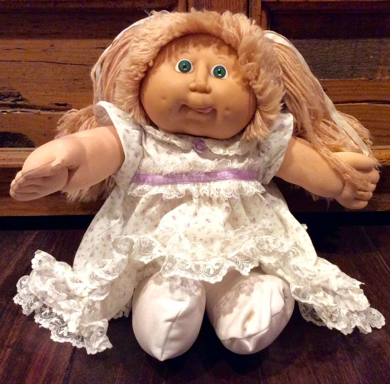 1986 Cabbage Patch Kids Doll With Her Tongue Sticking Out Vintage Coleco Cabbage Patch Kids Cabbage Patch Doll Girl Cpk Oaa 1980s Cpk Cabbage Patch Kids Dolls Child Doll Patch Kids