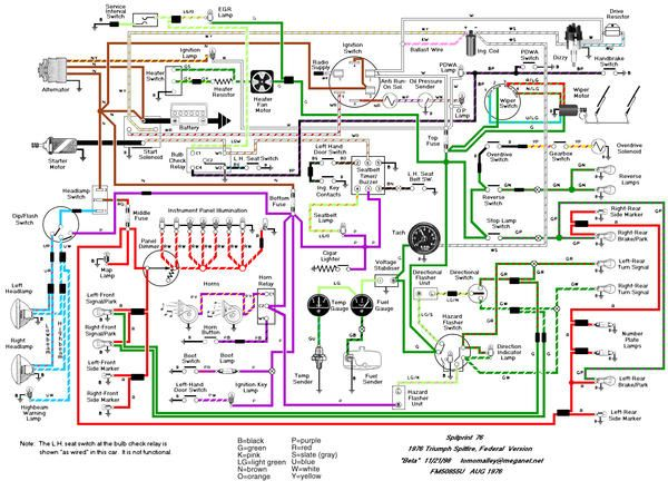 The What Is This Wire Game 76 Spit Edition Spitfire Gt6 Forum Triumph Experienc Electrical Circuit Diagram Electrical Diagram Electrical Wiring Diagram