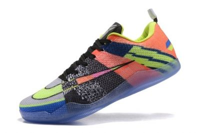 Nike Kobe 11 Elite Low All Star Orange Black Green Multi Color Men Basketball Shoes 822675