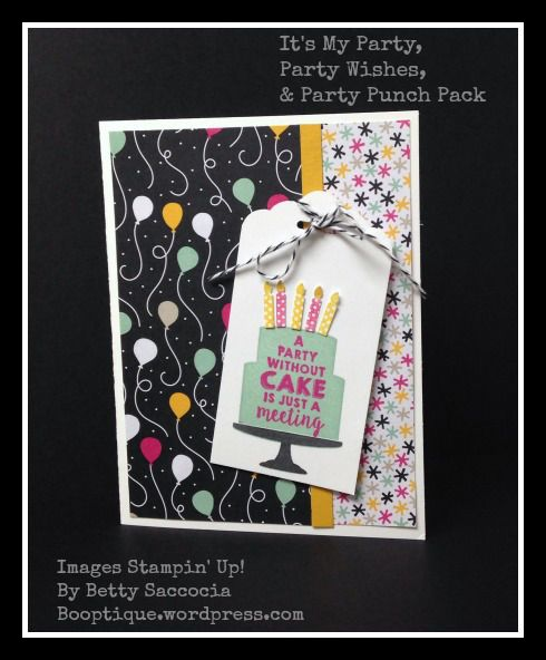 Best candle punch ever from Stampin' Up! in the Party Punch Pack.  Coordinates perfectly with Party Wishes & It's My Party paper!!  See what would have made it even a LITTLE better at Booptique.wordpress.com