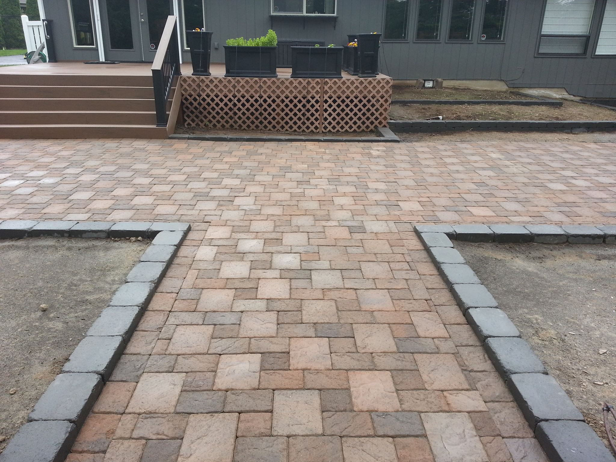 Textured Pavers To Mimic Natural Stone Paver Patios