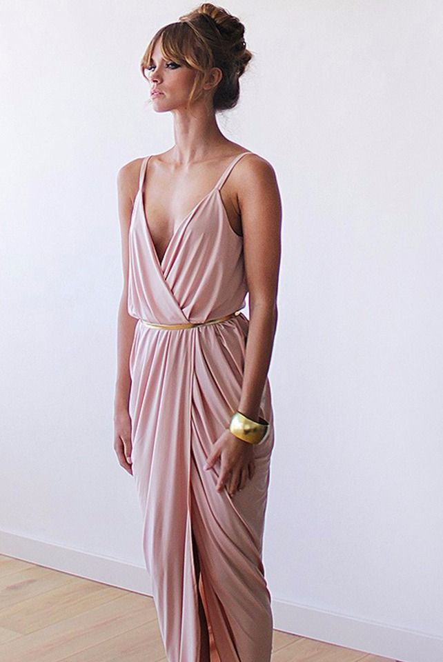 50bd9970e18 flirty bridesmaid dress in blush pink with gold accessorries  wcstyleandpose