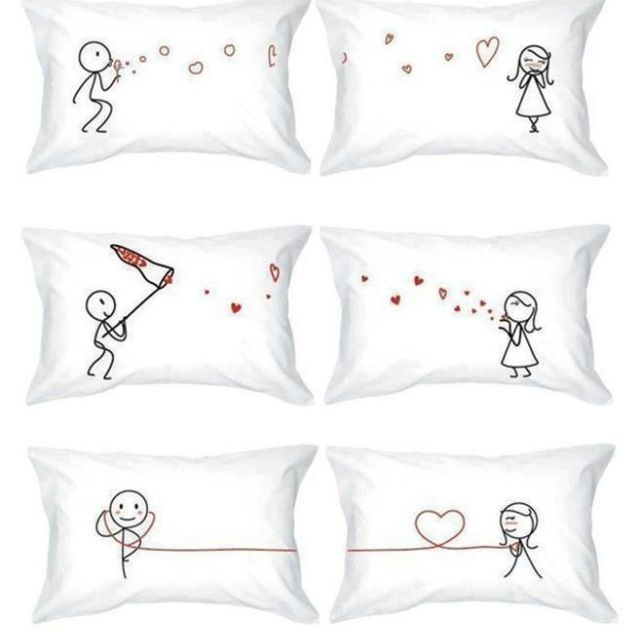 His & Hers pillow case | almohadones | Pinterest | Bordado, Cojines ...