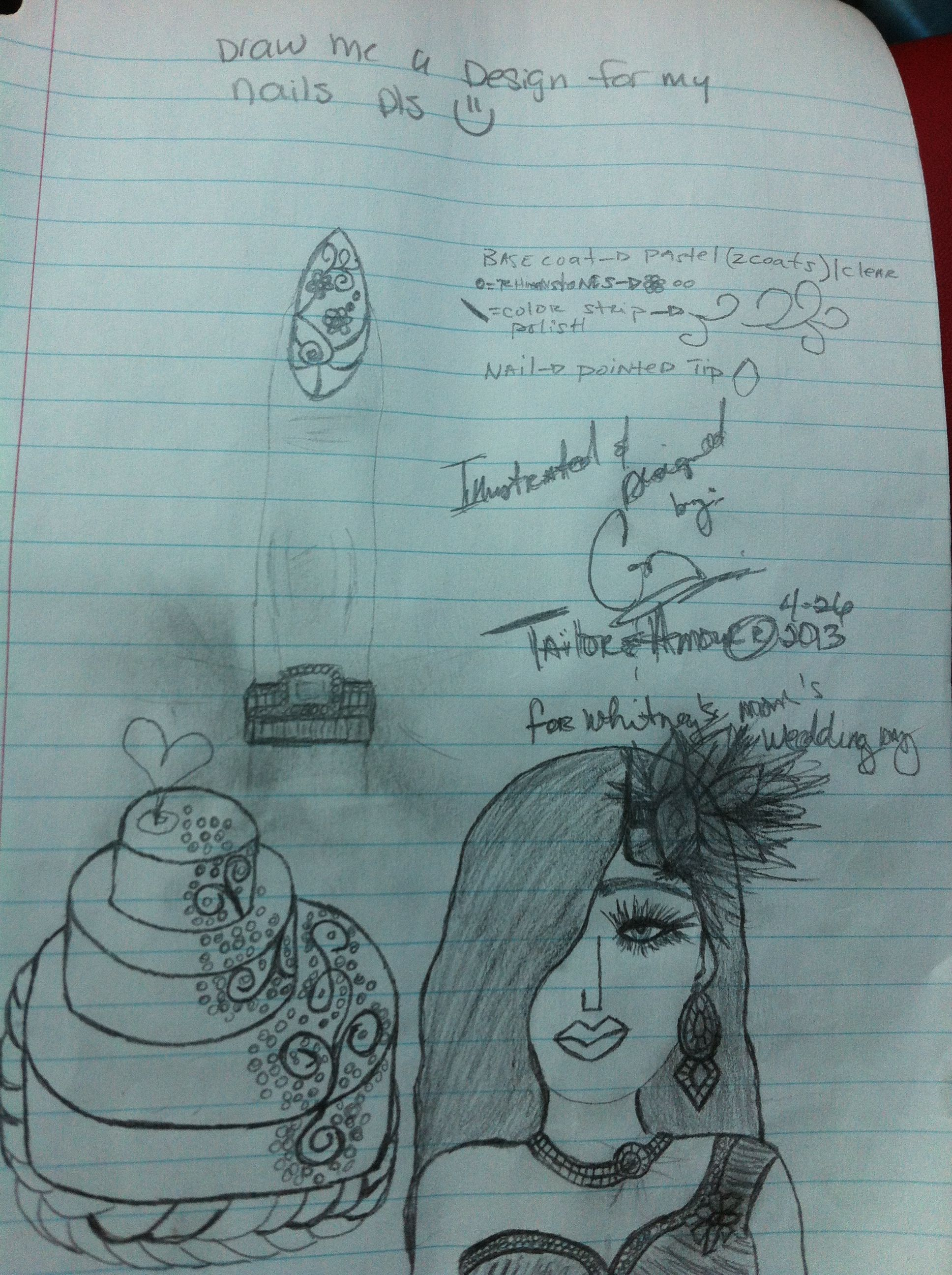 Sketched by: Carlyn James