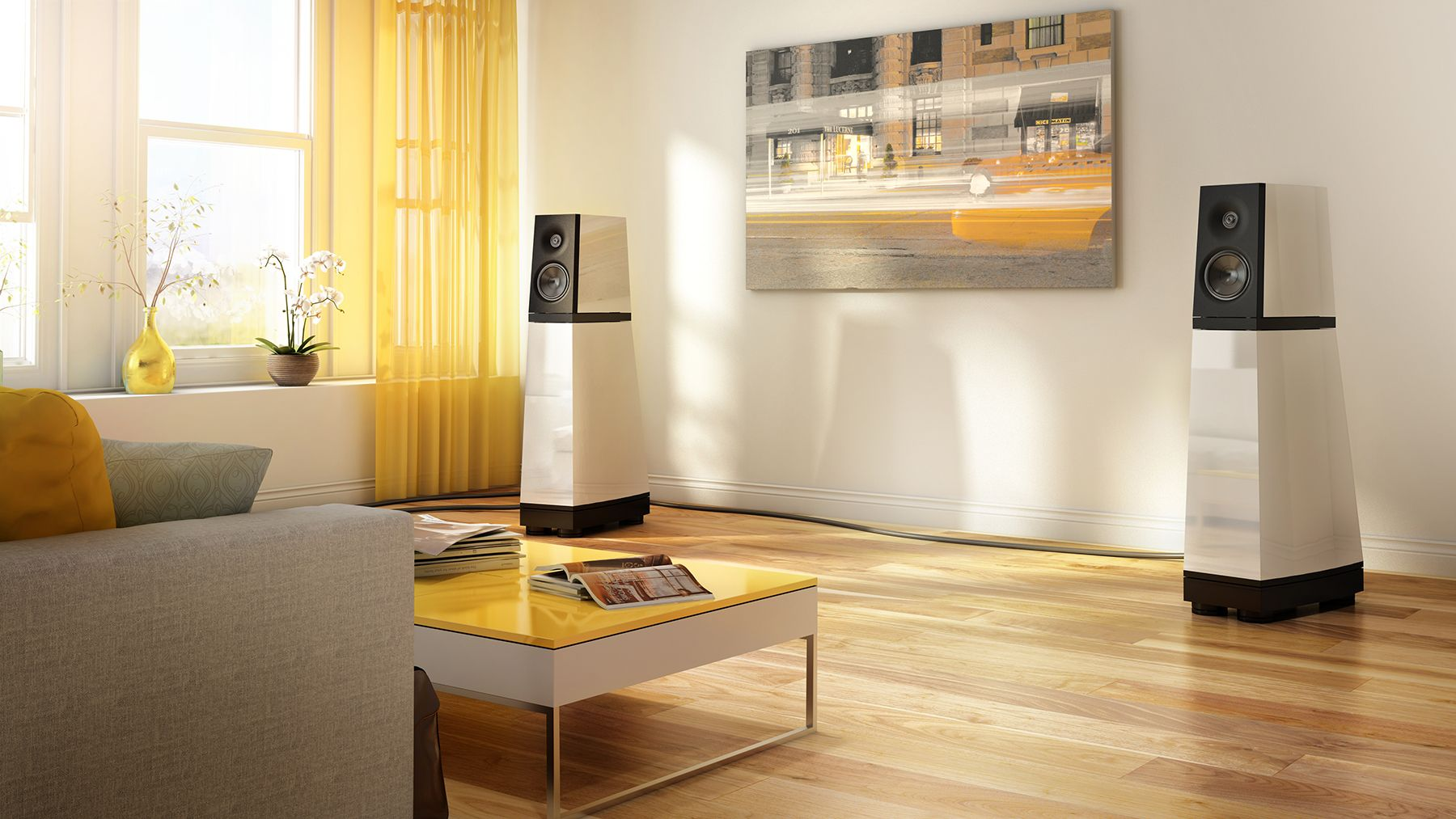 Integration D Un Systeme De Son Dans Un Salon Au Design Contemporain Modern Design And Sound System Design Contemporain Design Maison