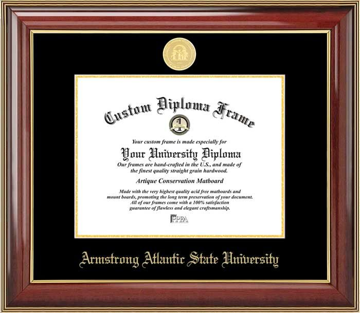 Armstrong Atlantic State University Diploma Frame Gold